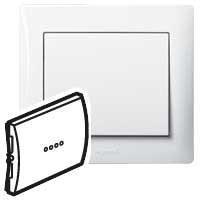 Клавиша для выключателя/переключателя 1 клавишного с индикацией белый Galea Life