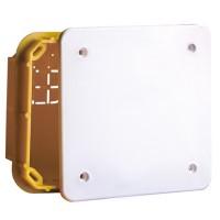 Коробка монтажная разветвительная 118х96х50 мм с крышкой для сплошных стен скрытого монтажа