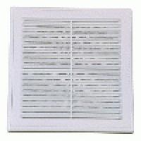 Решетка вентиляционная разъемная с москитной сеткой наклонные жалюзи для естественной вытяжки 180х250 мм