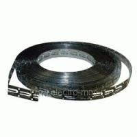 Лента монтажная стальная оцинкованная для крепления кабеля шаг 2,5 см.  Devifast (старый артикул 19808195)