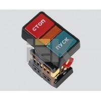 Кнопка управления Пуск-Стоп красная-зеленая неон/230В d30мм 1з+1р IP40 тип PPBB-30N