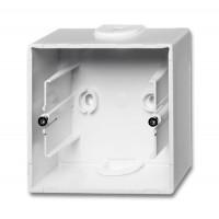 Коробка открытого монтажа 1 пост альпийский белый Basic 55