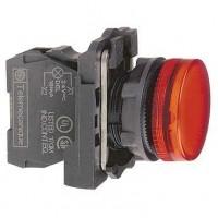 Сигнальная лампа красная 22 мм с цоколем BA 9s для лампы накаливания до 250В АС