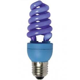 Лампа энергосберегающая 15 Вт Е27 спираль, синяя