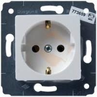 Розетка 2P+E 16А белый Cariva