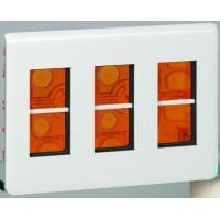 Розеточный блок встраиваемый 3х4 модулей белый Mosaic