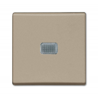Выключатель 1- клавишный с подсветкой шампань Basic 55