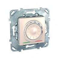 Термостат для теплого пола с датчиком 10А от+5 до +45 С бежевый Unica