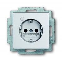 Розетка 2Р+E 16А с контрольной лампой  серебристо-алюминевый solo/future