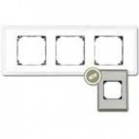 Рамка 3 поста хром с квадратным вырезом venezia metal (Fontini)