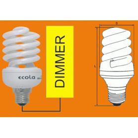 Лампа энергосберегающая 20 Вт Е27 2700К спираль диммируемая , тёплый