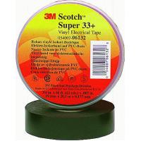 Изолента 38 мм х 33 м Scotch Super 33+ ПВХ для монтажа при низких температурах (до -40С)