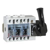 Выключатель-разъединитель 3-пол. 160А фронтальное управление, черная ручка, Vistop