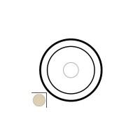 Накладка для выключателя/переключателя сенсорного слоновая кость Celiane