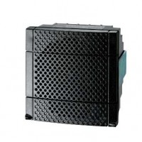Сирена электронная чёрная 90дБ 4-х тональная 12-24В IP54 монтаж на DIN72 AC/DC