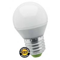 Лампа светодиодная 5 Вт 230В Е27 шарик, холодный белый 94 479