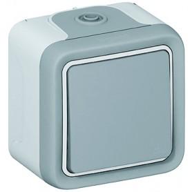 Выключатель/переключатель 1 клавишный накладной  10A  IP 55  Plexo