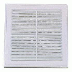 Решетка вентиляционная разъемная с москитной сеткой наклонные жалюзи для естественной вытяжки 210х210 мм