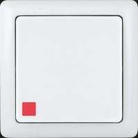 Выключатель 1 клавишный с индикатором белый ХИТ