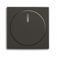 Центральная плата с поворотной ручкой лампой подсветки для светорегулятора шато черный Basic 55