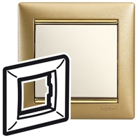 Pамка 1 пост Матовое золото Valena