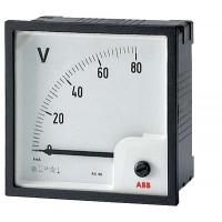 Вольтметр аналоговый панельный прямого включения для измерения напряж.постоян.тока со шкалой до 150В 72х72мм серия VLM2-150/72