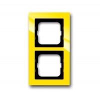 Рамка 2 поста цвет жёлтый Axcent