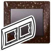 Рамка 2 поста CORIAN Cocoa Brown