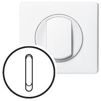 Накладка для выключателя/переключателя бесшумного белый Celiane