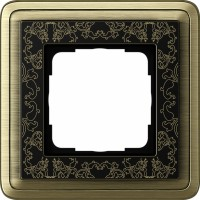 Рамка 1 пост бронза/черный CassiX Art