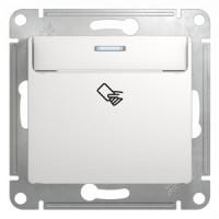 Выключатель карточный белый Glossa