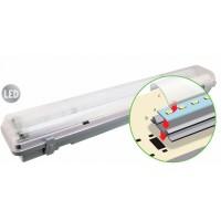 Светильник накладной светодиодный 2х12Вт LED 250V 2000Лм 4000К IP65 ударопрочный корпус