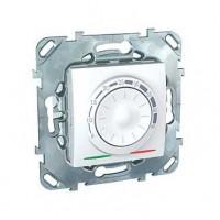 Термостат для теплого пола с датчиком 10А от+5 до +45 С белый Unica