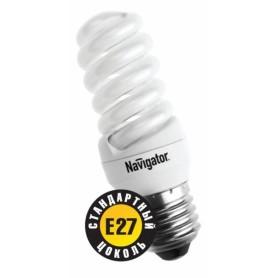 Лампа энергосберегающая 11 Вт Е27 4200К тонкая спираль холодный 94 091