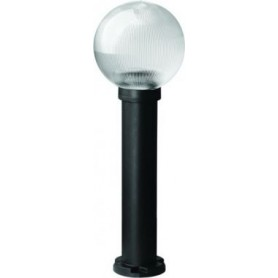 Светильник  уличный  60Вт Е27 h=60 см, шар дымчатый призмат. IP43