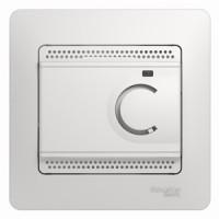 Терморегулятор с датчиком пола белый Glossa