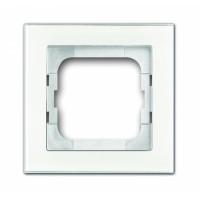 Рамка 1 пост цвет белое стекло Axcent