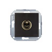 Выключатель/переключатель 1 клавишный коричневый/бронза (тумблер) F-37  (Fontini)