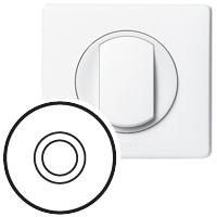 Накладка для выключателя/переключателя нажиного белый Celiane