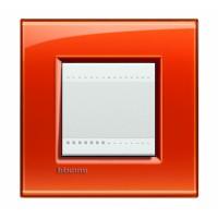 Рамка 2 модуля прямоугольная оранжевый Living Light (Bticino)