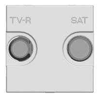 Розетка TV-R-SAT оконечная с накладкой  белый Zenit