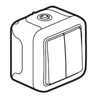 Выключатель/переключатель 2 клавишный накладной  10A  IP 55  Plexo