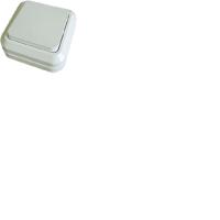 Выключатель 1 клавишный с подсветкой белый Олимп