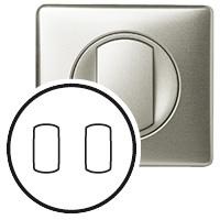 Накладка для выключателя/переключателя с рычажком 2 клавишного титан Celiane