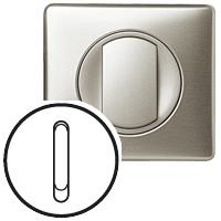 Накладка для выключателя/переключателя бесшумного титан Celiane