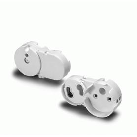 Патрон G13 для ламп Т8 (d=26mm) с гнездом для стартера под винт накидной