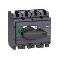 Выключатель-разъединитель 3-пол. 100А с черной ручкой INTERPACT INS250