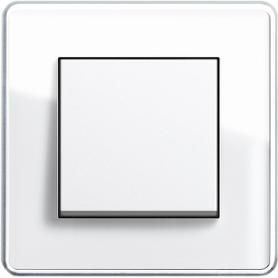 Рамка 1 пост белое стекло  ESPRIT C