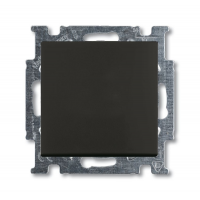 Переключатель 1-клавишный шато черный Basiс 55