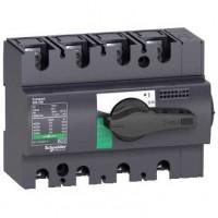Выключатель-разъединитель 4-пол. 160А с черной ручкой INTERPACT INS160